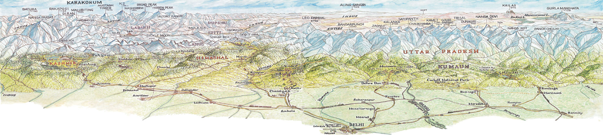 Map of Himalaya